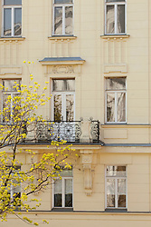 Apartment building Vienna facade balcony old