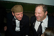 Kevin Spacey and Harvey Weinstein, Weinstein Bafta after-party in association with Chopard. Bungalow 8. London. 10  February 2008.  *** Local Caption *** -DO NOT ARCHIVE-© Copyright Photograph by Dafydd Jones. 248 Clapham Rd. London SW9 0PZ. Tel 0207 820 0771. www.dafjones.com.