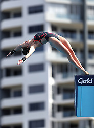 England's Lois Toulson competes in the Women's 10m Platform Preliminary at the Optus Aquatic Centre during day eight of the 2018 Commonwealth Games in the Gold Coast, Australia.