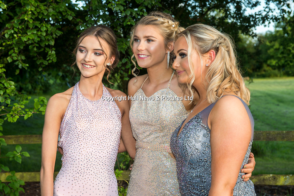 20 June 2019: Cleethorpes Academy Year 11 Prom at Brackenborough Hotel near Louth.<br /> (l-r) Ebony  Sherriff, Beth Wharton and Laura Reynolds. <br /> Picture: Sean Spencer/Hull News & Pictures Ltd<br /> 01482 210267/07976 433960<br /> www.hullnews.co.uk         sean@hullnews.co.uk