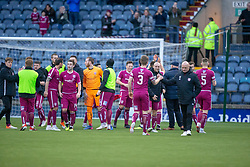 Arbroath's players at the end. Raith Rovers 0 v 1 Arbroath. Scottish Football League Division One game played 16/2/2109 at Stark's Park.
