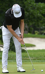 July 15, 2018 - Silvis, Illinois, U.S. - SILVIS, IL - JULY 15:  Bronson Burgoon putts on the #6 green during the final round of the John Deere Classic on July 15, 2018, at TPC Deere Run, Silvis, IL.  (Photo by Keith Gillett/Icon Sportswire) (Credit Image: © Keith Gillett/Icon SMI via ZUMA Press)