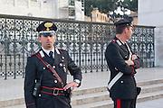 Italy, Rome, Vittorio Emanuele II Monument at Piazza Venezia. Policemen on duty