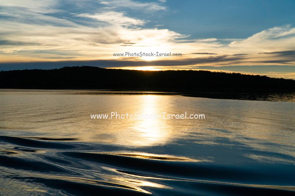 Sunset on Lake Kariba, the world's largest artificial lake, Zimbabwe