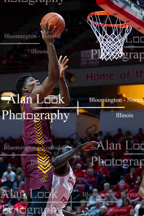 NORMAL, IL - January 19: Franklin Agunanne during a college basketball game between the ISU Redbirds and the Loyola University Chicago Ramblers on January 19 2020 at Redbird Arena in Normal, IL. (Photo by Alan Look)