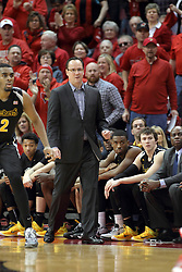 14 February 2015:   Gregg Marshall cracks a grin during an NCAA MVC (Missouri Valley Conference) men's basketball game between the Wichita State Shockers and the Illinois State Redbirds at Redbird Arena in Normal Illinois