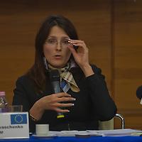 Yrina Ivashenko representative of IMF in Hungaroy attends Economy Forum conference in Budapest, Hungary on November 24, 2011. ATTILA VOLGYI