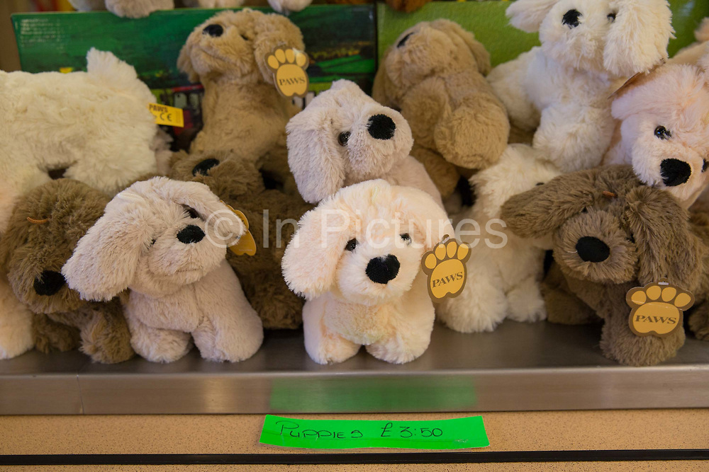 Cuddly toys on sale at the Farm Cafe in rural Holbeach on the 23rd June 2017 in Norfolk, United Kingdom. Established during the 1950's after the owners parents set up a tea stop on the east bound A17, the cafe has grown over the years and attracts coach loads of tourist and travellers often en route to the north Norfolk coast.