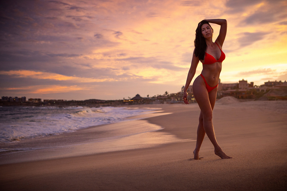 Swimsuit Model shot in Cabo San Lucas, Mexico. Beach location at sunset. ©justinalexanderbartels.com Swimsuit Model shot in Cabo San Lucas, Mexico. Beach location at sunset. ©justinalexanderbartels.com