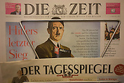 The German national Die Zeit newspaper displays a picture of Adolf Hitler on their front page, a feature about Stern Magazine's controversial Hitler Diaries scandal, 30 years ago.