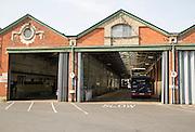 Bus depot Ipswich, Suffolk, England, UK