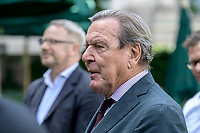 02 JUL 2020, BERLIN/GERMANY:<br /> Gerhard Schroder, SPD, Bundeskanzler a.D., Garten Deutsche Parlamentarisches Gesellschaft<br /> IMAGE: 20200702-01-066<br /> KEYWORDS: Gerhard Schröder