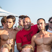 NLD/Amsterdaml/20180902 - Everon Jackson Hooi Lanceert boxerliijn  IAMTORO,  Everon Jackson Hooi met de mannelijke modellen