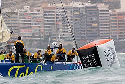 © Sander van der Borch.Alicante, 11 October 2008. Start of the Volvo Ocean Race. Telefonica blue.