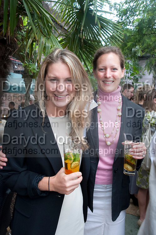KATY BISHTON; LUCY HALL JACKSON STOPS AND STAFF, Archant Summer party. Kensington Roof Gardens. London. 7 July 2010. -DO NOT ARCHIVE-© Copyright Photograph by Dafydd Jones. 248 Clapham Rd. London SW9 0PZ. Tel 0207 820 0771. www.dafjones.com.
