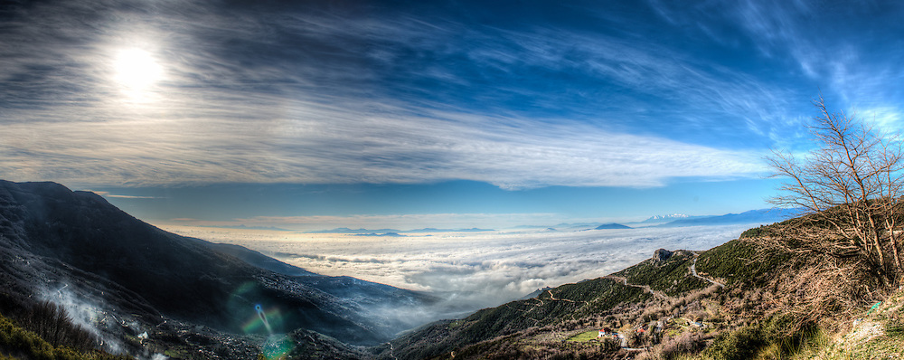Volos under low clouds