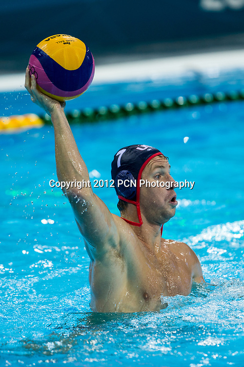 Layne Beaubien (USA) during the USA vs.Hungary Men's Water Polo game at the Olympic Summer Games, London 2012