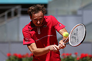 Daniil Medvedev of Russia in action during his Men's Singles match, round of 32, against Alejandro Davidovich Fokina of Spain on the Mutua Madrid Open 2021, Masters 1000 tennis tournament on May 5, 2021 at La Caja Magica in Madrid, Spain - Photo Oscar J Barroso / Spain ProSportsImages / DPPI / ProSportsImages / DPPI