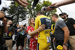 July 28, 2018 - Espelette, France - ESPELETTE, FRANCE - JULY 28 : THOMAS Geraint (GBR) of Team SKY and his wife during stage 20 of the 105th edition of the 2018 Tour de France cycling race, an individual time-trial stage of 31 kms between Saint-Pee-sur-Nivelle and Espelette on July 28, 2018 in Espelette, France, 28/07/18  (Credit Image: © Panoramic via ZUMA Press)