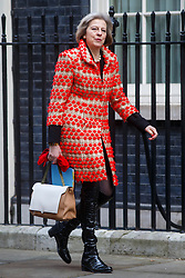 © Licensed to London News Pictures. 03/03/2015. LONDON, UK. Home Secretary Theresa May attending to a cabinet meeting in Downing Street on Tuesday, 3 March 2015. Photo credit: Tolga Akmen/LNP