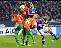 v.l. Felix Klaus, Lasse Sobiech, Jozsef Varga, Roman Neustaedter, Benedikt Hoewedes (Schalke)<br /> Fussball Bundesliga, FC Schalke 04 - SpVgg Greuther Fuerth<br /> <br /> Norway only