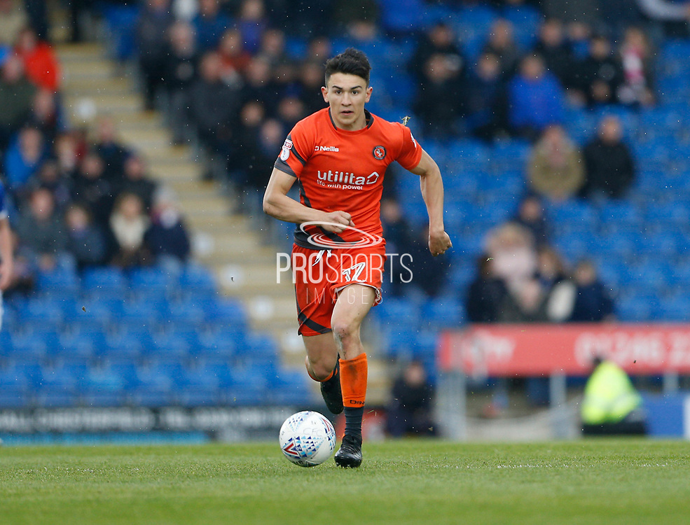 Wycombe Wanderers Luke O'Nien(17) during the EFL Sky Bet League 2 match between Chesterfield and Wycombe Wanderers at the b2net stadium, Chesterfield, England on 28 April 2018. Picture by Paul Thompson.