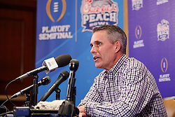Washington Huskies head coach Chris Petersen meets with the media on December 26, 2016 in Atlanta. Washington faces the Alabama Crimson Tide in the 2016 Chick-fil-A Peach Bowl Playoff Semifinal. (Paul Abell / Abell Images for the Chick-fil-A Peach Bowl)