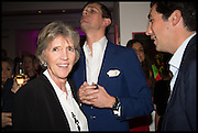 JANE CHURCHILL; LORD ALEXANDER SPENCER CHURCHILL; WILLIAM VESTEY, Sotheby's Frieze week party. New Bond St. London. 15 October 2014.