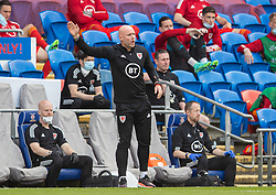 CARDIFF, WALES - Saturday, June 5, 2021: Wales' manager Robert Page during an International Friendly between Wales and Albania at the Cardiff City Stadium in their game before the UEFA Euro 2020 tournament. (Pic by David Rawcliffe/Propaganda)