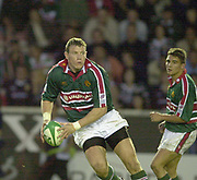 Leicester, Welford Road, Leicestershire, 30/09/2001,           Tim Stimpson,  Heineken Cup, match, Leicester Tigers vs Llanelli, Heineken Cup,<br /> [Mandatory Credit: Peter Spurrier/Intersport Images],<br /> Leicester Tigers v Llanelli Euro Cup  <br /> 29/9/01