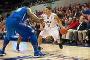 DALLAS, TX - FEBRUARY 01: Nic Moore #11 of the SMU Mustangs brings the ball up court against the Memphis Tigers on February 1, 2014 at Moody Coliseum in Dallas, Texas.  (Photo by Cooper Neill/Getty Images) *** Local Caption *** Nic Moore