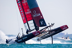 Practice racing before the Louis Vuitton America's Cup World series Chicago. 10th of June, 2016, Chicago, United States