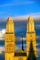 Grossmunster cathedral, Zurich, Switzerland