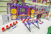 A special line aimed at encouraging girls to build things on the Knex stand - The annual London Toy Fair, the trade show for the toy and games industry, takes place at Olympia.