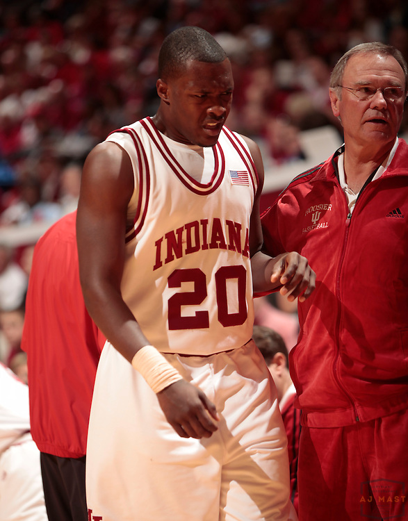 31 January 2009: Indiana guard Nick Williams (20) as the Indiana Hoosiers played the Ohio State Buckeyes in a college basketball game in Bloomington, Ind.