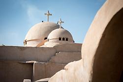 17 December 2016, Cairo, Egypt: Crosses reach towards the sky, at the Coptic Orthodox Saint Bishoy Monastery.
