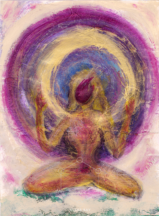 Abstract woman painting as the spirit of female sexual energy.