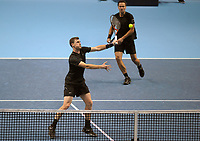 Tennis - 2017 Nitto ATP Finals  at The 02 - Day Two, Monday<br /> <br /> Jamie Murray and Bruno Soares v Bob Bryan and Mike Bryan (USA)<br /> <br /> Jamie Murray and Bruno Soares unable to win the match<br /> <br /> <br /> COLORSPORT/ANDREW COWIE
