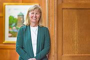 """Elizabeth """"Bessie"""" Cromwell Speers joined Tower Hill as Head of School in July 2015, bringing nearly 25 years of experience in independent school education. She most recently served as Head of School at The Ethel Walker School in Simsbury, Connecticut.<br /> Speers formerly served as Assistant Head of School, Dean of Faculty, English Teacher and Coach at Episcopal Academy near Philadelphia. Her prior positions include Director of Placement and Strategic Planning at Calvert School in Baltimore; Director of Admission and Financial Aid, Teacher and Coach at The Bryn Mawr School in Baltimore; and Associate Director of Admission, Coach and Adviser at The Loomis Chaffee School in Connecticut. She began her career working with the National Association of Independent Schools (NAIS).  <br /> <br /> A graduate of The Bryn Mawr School, Speers holds a Bachelor of Arts in English from Middlebury College and a Master of Liberal Arts degree from Johns Hopkins University. She received a Klingenstein Fellowship at Columbia University's Teachers College in 2014 and has been active with various professional organizations including the Connecticut Association of Independent Schools (CAIS), The Center for Spiritual and Ethical Education (CSEE), The National Coalition of Girls' Schools (NCGS) and The Heads Network, of which she currently is serving as President. Speers is the tenth Head of School, and first woman to hold the position, in Tower Hill's 95-year history. Photograph by Jim Graham"""