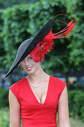Louise Black at Ladies Day at Royal Ascot 2013<br /> Ascot, Thursday, 20th June 2013<br /> Picture by Stephen Lock / i-Images