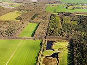 Nederland, Friesland, Gemeente Gaasterlan-Sleat, 16-04-2012; Gaasterland, onderdeel van Nationaal Landschap Zuidwest Fryslan. Lycklemabosch (Lycklemabos), Golfclub Gaasterland, Nijemirdum (Nijemardum)..Southwest Friesland.luchtfoto (toeslag), aerial photo (additional fee required).foto/photo Siebe Swart