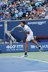 August 10, 2018 - Toronto, ON, Canada - Dutch professional tennis player, Robin Haase in action in his quarter-final match in the Rogers Cup tennis tournament in Toronto, Canada. (Credit Image: © Mike Mastrandrea via ZUMA Wire)