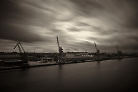 Clouds in Motion. Gdansk Port. Image taken with a Leica X2 camera and 24 mm lens.