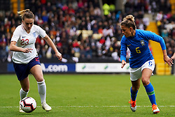 October 6, 2018 - Nottingham, England, United Kingdom - Nottingham England - October 06:.L-R Melissa Lawley of England and Tamires of Brazil.during International Friendly between England Women and Brazil Women at Meadow Lane stadium , Notts County FC, Nottingham, England on 06 Oct 2018. (Credit Image: © Action Foto Sport/NurPhoto/ZUMA Press)