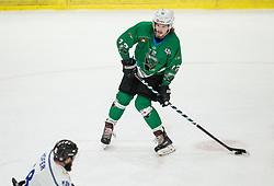 Janez Orehek of SZ Olimpija scoring during ice hockey match between HK SZ Olimpija and WSV Sterzing Broncos Weihenstephan (ITA) in Round #12 of AHL - Alps Hockey League 2018/19, on October 30, 2018, in Hala Tivoli, Ljubljana, Slovenia. Photo by Vid Ponikvar / Sportida