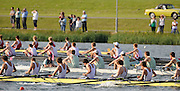 Eton,  GREAT BRITAIN. Championship Boy's Eights, Shrewsbury School lead  home Eton and Abingdon School in the final of the Championships Ch8+.  Eton Schools' Regatta, Eton Rowing Centre, Dorney Lake. [Finish of cancelled National Schools Regatta], Saturday, 07/06/2008  [Mandatory Credit:  Peter SPURRIER / Intersport Images].. Rowing Courses, Dorney Lake, Eton. ENGLAND