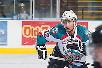 KELOWNA, CANADA - JANUARY 3: Tyrell Goulbourne #12 of Kelowna Rockets skates against the Prince George Cougars on January 3, 2015 at Prospera Place in Kelowna, British Columbia, Canada.  (Photo by Marissa Baecker/Shoot the Breeze)  *** Local Caption *** Tyrell Goulbourne;