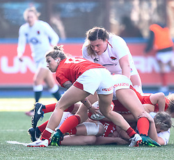 Keira Bevan of Wales<br /> <br /> Photographer Simon King/Replay Images<br /> <br /> Six Nations Round 3 - Wales Women v England Women - Sunday 24th February 2019 - Cardiff Arms Park - Cardiff<br /> <br /> World Copyright © Replay Images . All rights reserved. info@replayimages.co.uk - http://replayimages.co.uk