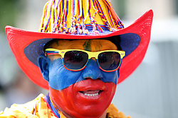 A Colombia fan ahead of the FIFA World Cup 2018, Group A match at the Luzhniki Stadium, Moscow.