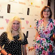 NLD/Amsterdam/20121001- Uitreiking Bachelorette List 2012, Britt Dekker en Ymke Wieringa